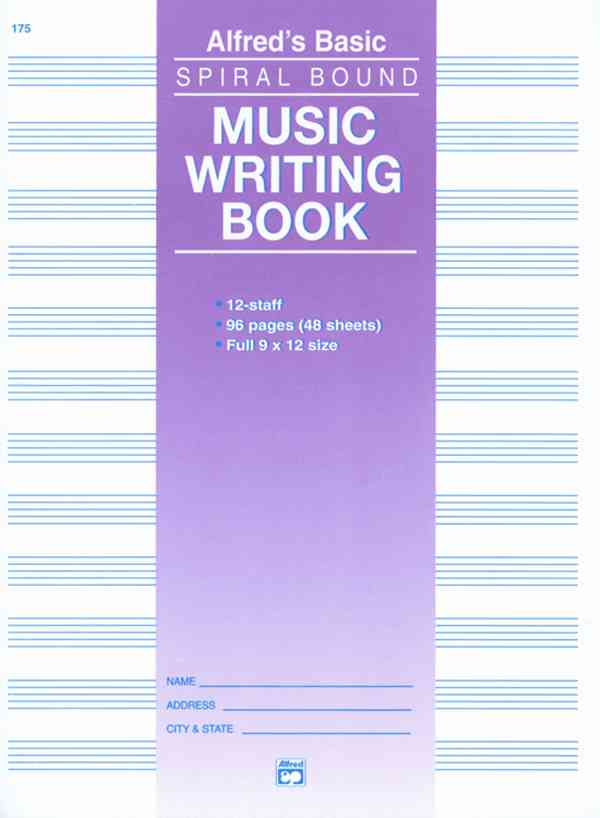 Alfred's Basic Music Writing Book 12-Staff By Alfred Publishing (COR)